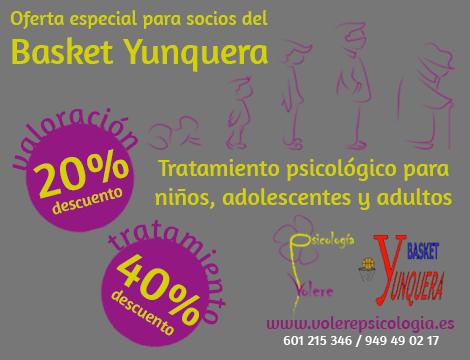 Colaboración Basket Yunquera y Volere Psicología